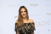 Jessica Alba Off-the-Shoulder Dress