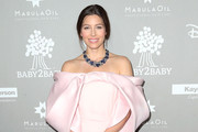 Jessica Biel Off-the-Shoulder Dress