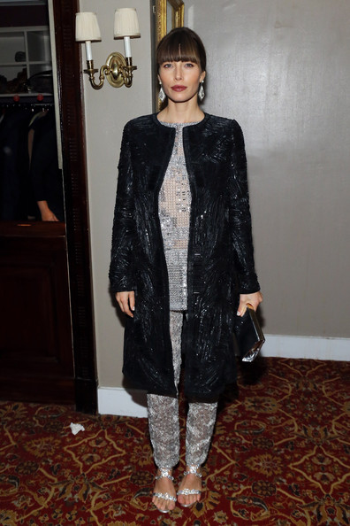 Jessica Biel Sequined Jacket