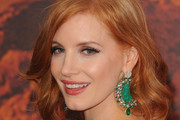 Jessica Chastain Gemstone Chandelier Earrings