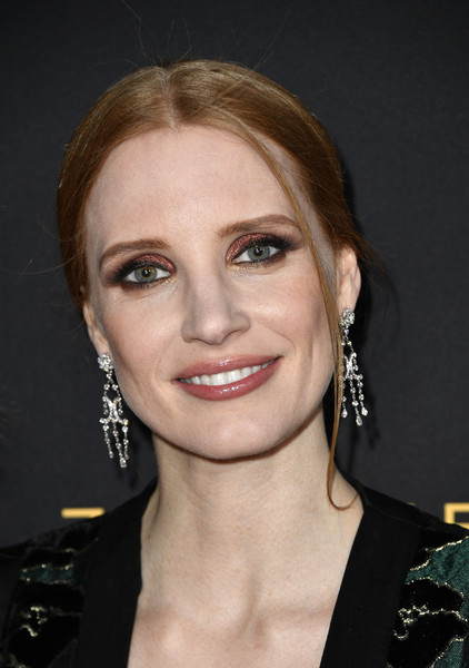 Jessica Chastain Metallic Eyeshadow [the zookeepers wife,hair,face,eyebrow,hairstyle,chin,lip,beauty,cheek,forehead,blond,arrivals,jessica chastain,actor,arclight hollywood,california,focus features,premiere,premiere]