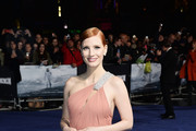 Jessica Chastain One Shoulder Dress