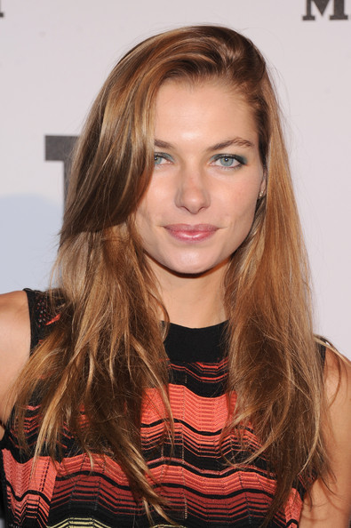 Jessica Hart Long Side Part