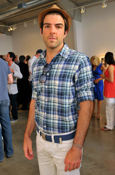 More Pics of Zachary Quinto Canvas Belt (4 of 4) - Zachary Quinto Lookbook - StyleBistro [plaid,fashion,jeans,pattern,event,design,tartan,textile,dress shirt,shirt,jessica lange,zachary quinto,exclusive,santa monica,california,the rose gallery,reception]