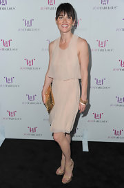 Robin was lovely in a nude 70's silhouette for the JustFabulous launch in Hollywood.