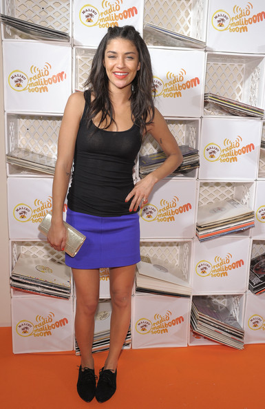 Jessica Szohr Metallic Clutch