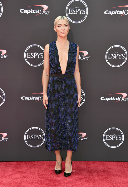 Jessica Szohr Beaded Dress [red carpet,clothing,dress,carpet,cocktail dress,little black dress,fashion,flooring,premiere,event,arrivals,jessica szohr,microsoft theater,los angeles,california,espys]