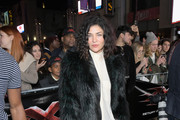 Jessica Szohr Fur Coat