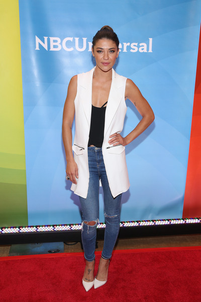 Jessica Szohr Ripped Jeans