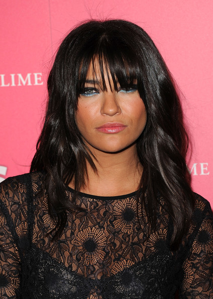 Jessica Szohr Long Wavy Cut with Bangs