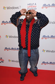 Cee-Lo got in the winter spirit with this cozy printed sweater.
