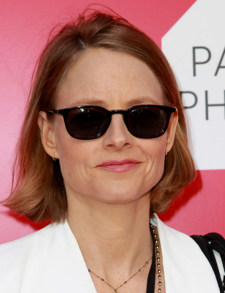 Jodie Foster Bob [paris photo,preview,la private preview,photo,eyewear,sunglasses,hair,face,glasses,hairstyle,lip,vision care,eyebrow,pink,jodie foster,paris,los angeles,hollywood,california,paramount studios]