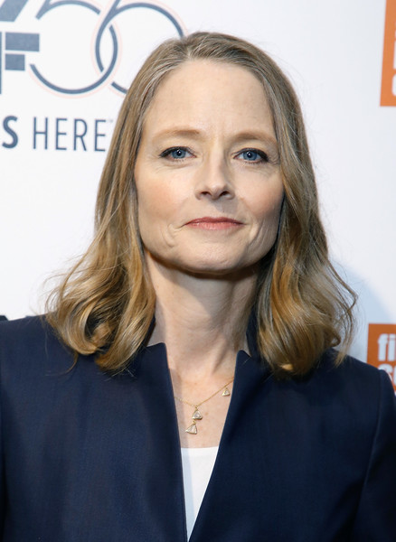 Jodie Foster Mid-Length Bob [hair,face,blond,hairstyle,eyebrow,head,beauty,chin,lip,long hair,jodie foster,falling leaves / be natural,walter reade theatre,new york city,the film society of lincoln center,new york film festival]