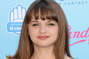 Joey King Medium Straight Cut with Bangs