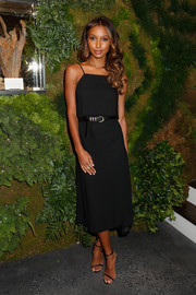 Jasmine Tookes kept it minimal in a spaghetti-strap LBD at the John Hardy Artisan in Residence launch.