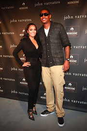 La La Anthony looked seriously chic in a long-sleeve black jumpsuit during the John Varvatos 10th anniversary party.