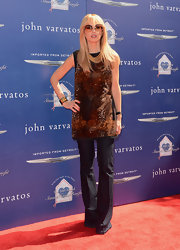 Rachel Zoe kept true to her boho-chic style with these flare jeans with front pleats.