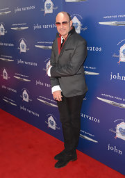 John Varvatos looked super suave and sophisticated in a gray pin dot blazer.