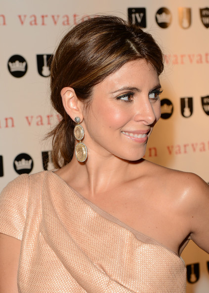 More Pics of Jamie-Lynn Sigler Dangling Gemstone Earrings (1 of 19) - Jamie-Lynn Sigler Lookbook - StyleBistro