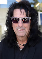 Alice Cooper stuck to his rock 'n roll roots with these cool clear wayfarers.