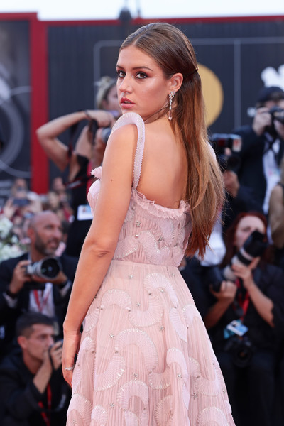 More Pics of Adele Exarchopoulos Evening Dress (1 of 15) - Dresses & Skirts Lookbook - StyleBistro [fashion model,hair,clothing,fashion,dress,shoulder,beauty,hairstyle,fashion show,model,red carpet arrivals,joker,adele exarchopoulos,sala grande,red carpet,venice,italy,76th venice film festival,screening]