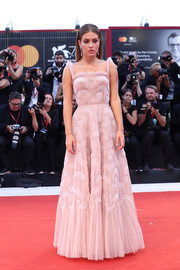 Adele Exarchopoulos looked darling in a pink fit-and-flare gown by Dior at the Venice Film Festival screening of 'Joker.'