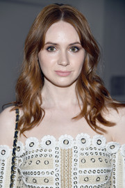 Karen Gillan looked simply lovely with her boho waves at the Jonathan Simkhai fashion show.