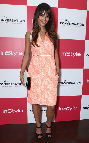 Jordana Brewster Print Dress