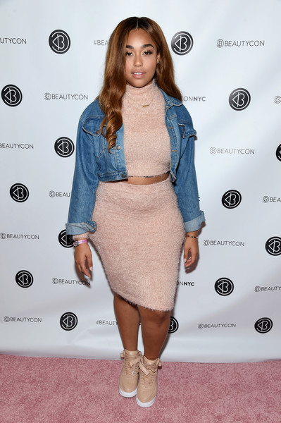Jordyn Woods Pencil Skirt [clothing,shoulder,dress,fashion,cocktail dress,hairstyle,joint,carpet,footwear,fashion model,cocktail dress,dress,jordyn woods,fashion,clothing,beauty,shoulder,new york,annual beautycon festival new york,3rd annual beautycon festival,whitney port,fashion,clothing,autumn,los angeles,celebrity,red carpet,loeffler randall,cocktail dress,beauty]