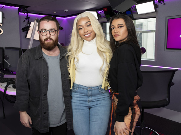 More Pics of Jordyn Woods Ripped Jeans (1 of 9) - Jeans Lookbook - StyleBistro [fashion,event,blond,fun,long hair,eyewear,black hair,jordyn woods,tom green,daisy maskell,kiss fm,kiss fm studio,london,england,visit]