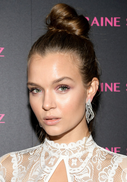 Josephine Skriver Dangling Diamond Earrings
