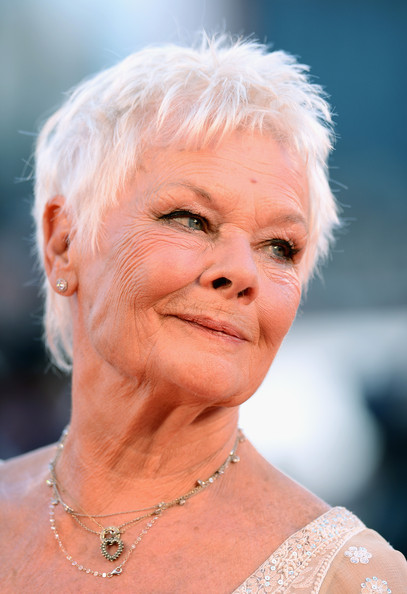 Judi Dench Pixie [face,hair,skin,head,wrinkle,lady,chin,blond,human,lip,venice,italy,palazzo del casino,philomenia premiere - the 70th venice international film festival,70th venice international film festival,dame judi dench]
