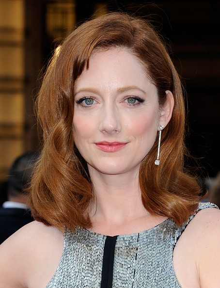 Judy Greer Medium Wavy Cut with Bangs