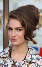 Tali Lennox exuded old school glamour with a retro updo at the opening of the Juicy Couture Flagship store.