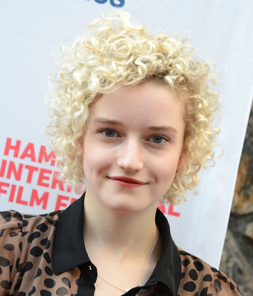 Julia Garner Short Curls [hair,face,hairstyle,blond,head,chin,wig,lip,ringlet,headgear,electrick children,julia garner,screening,east hampton,new york,ua east hampton theater,hamptons international film festival]