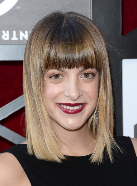 Julia Stephens Medium Straight Cut with Bangs