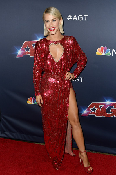 Julianne Hough Platform Sandals [americas got talent,season,red carpet,carpet,clothing,dress,hairstyle,flooring,premiere,fashion,long hair,fashion model,red carpet,julianne hough,california,hollywood,dolby theatre]