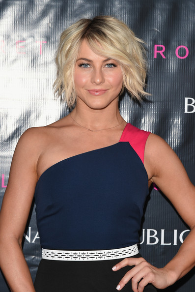Julianne Hough Messy Cut [hair,blond,beauty,human hair color,fashion model,hairstyle,shoulder,chin,long hair,joint,julianne hough,white street restaurant,new york city,roland mouret for banana republic collection,roland mouret fetes,banana.republic collection launch]