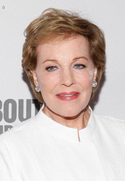 Julie Andrews Short Side Part [2012 spring gala,from screen to stage,hair,face,hairstyle,eyebrow,blond,chin,lip,skin,beauty,forehead,julie andrews,dinner,from screen to stage,hammerstein ballroom,new york city,roundabout theatre company,the roundabout theatre 2012 spring gala,auction]