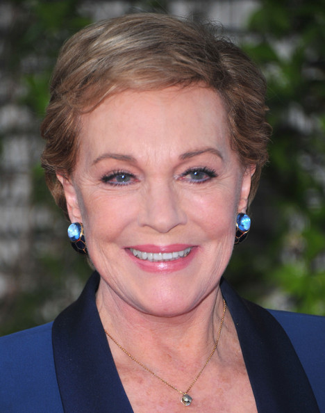 Julie Andrews Short Side Part [hair,face,hairstyle,eyebrow,chin,lip,head,forehead,blond,smile,backstage at the geffen,geffen playhouse,backstage at the geffen gala,california,los angeles,julie andrews,arrivals]