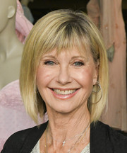 Olivia Newton-John sported a bob with choppy bangs at the Julien's Auctions VIP reception.