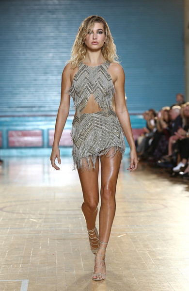 Hailey Baldwin at Julien Macdonald