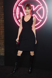 Bella Hadid opted for a simple LBD when she attended the Jump Into Spring: MICHAEL Michael Kors launch party.