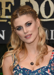 Ashley James looked like a fairytale princess with her partially braided waves at the European premiere of 'The Jungle Book.'