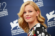 Elizabeth Banks styled her hair with big, bouncy waves for the Venice Film Festival jury photocall.