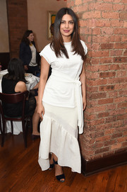 Priyanka Chopra looked airy in an asymmetrical-hem maxi dress by 3.1 Phillip Lim at the 2017 Tribeca Film Festival jury welcome lunch.