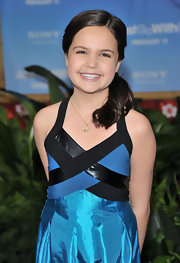 Bailee Madison looked pretty with her up in a ponytail at the NYC premiere of 'Just Go With It.'