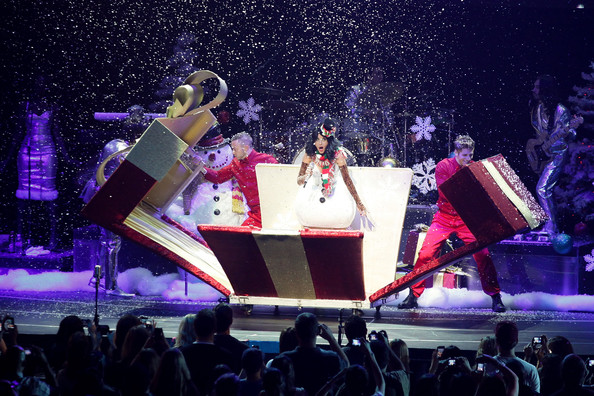 More Pics of Katy Perry Wedge Boots (1 of 27) - Katy Perry Lookbook - StyleBistro [performance,entertainment,stage,music artist,concert,performing arts,event,public event,musical,musical ensemble,katy perry,los angeles,california,kiis fm,jingle ball 2010 - show]