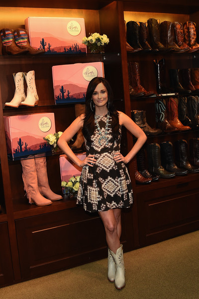Kacey Musgraves Print Dress [clothing,fashion,lady,footwear,design,dress,leg,shoe,photography,fashion design,kacey musgraves,nashville,tennessee,lucchese,kacey for lucchese collection launch event]