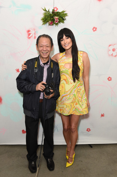 Kacey Musgraves Evening Pumps [one hour photo,fashion,yellow,event,dress,fun,fashion design,smile,formal wear,style,kacey musgraves,edie parker flower,tom,eric buterbaugh,best buds holiday party,flower,los angeles,california]